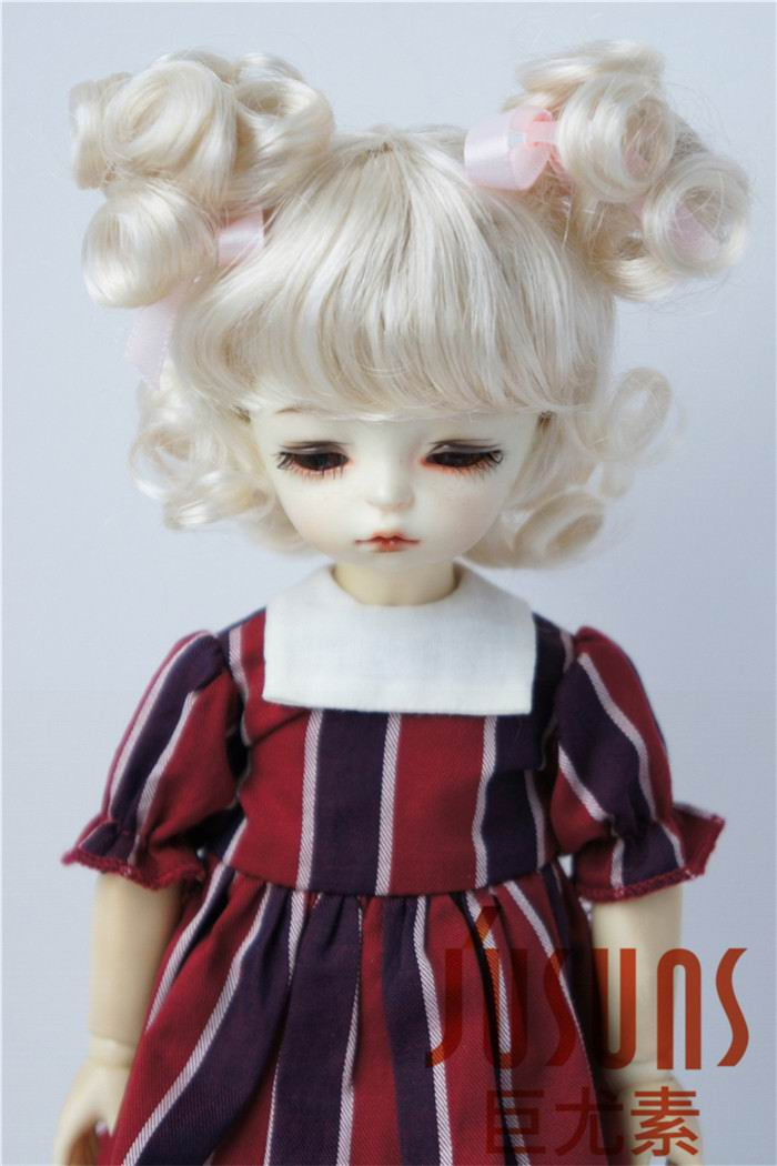 JD011 1/6 Lati Red doll wig Charming Curl Doll Wigs size 6-7 inch Doll Accessories Synthetic Mohair doll Wigs jd145 msd synthetic mohair doll wigs 7 8inch long curly bjd hair 1 4 doll accessories