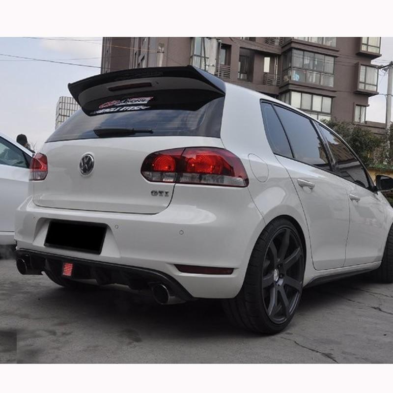 O estilo fibra de carbono Spoiler de techo ala para Volkswagen VW Golf 6 VI MK6 GTI y R20 2010 ~ 2013