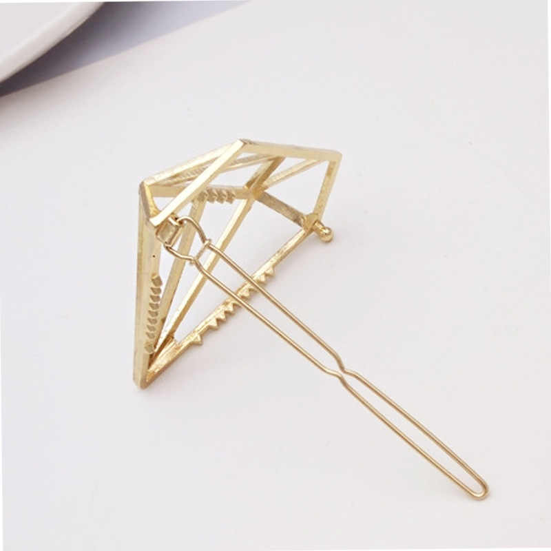 New Princess Diamond Hairpins Hair Accessories Hollow Girls Tiaras Barrettes Headwear Women Party Hair Clip Jewelry