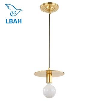 LEDream e27 Postmodern restoran bar sayacı tüm bakır tek kafa droplight koridor kolye lambaları
