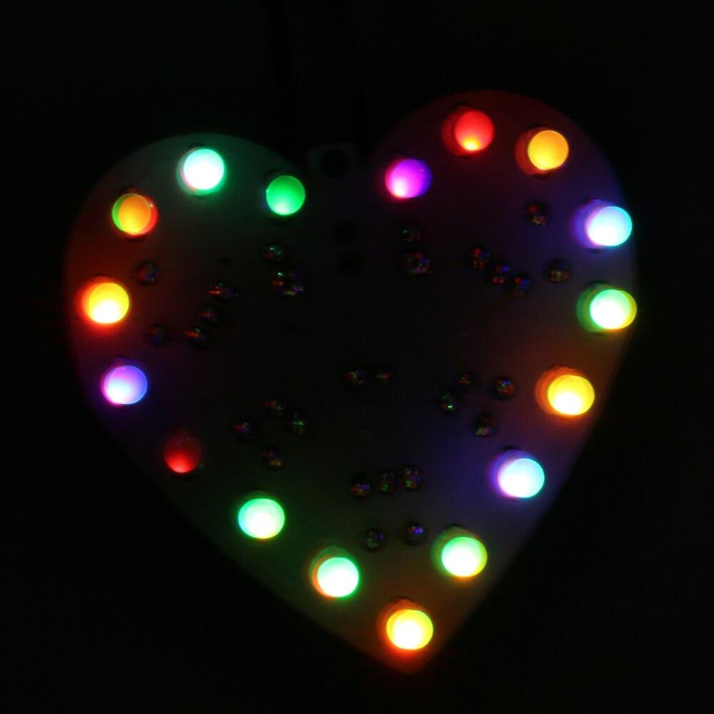 New font b Electronic b font Fun Colorful RGB LED DIY KIT 18 LEDs Heart Shaped