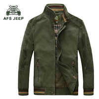 AFS JEEP New Autumn fashion brand jacket men windbreaker Stand collar coat male top quality casual outwear for men 130z