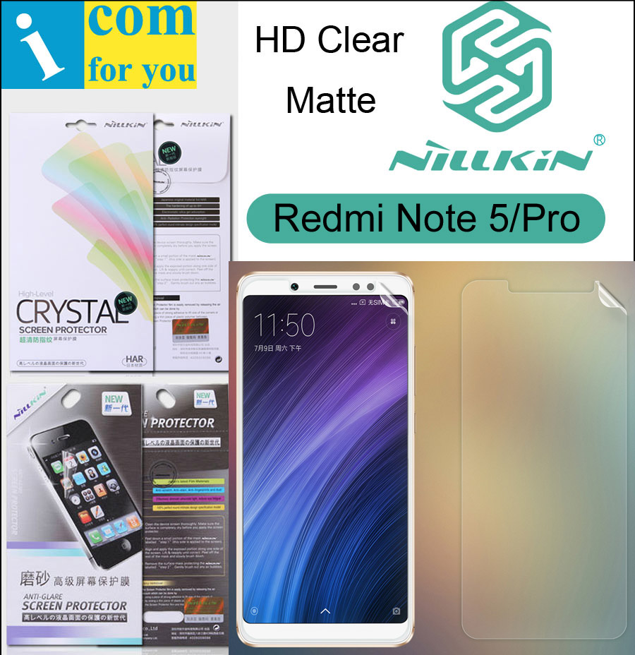 Nillkin Matte HD Clear Screen Protective Film For Xiaomi Redmi Note 5 Pro Note5 Soft Transparent Crystal