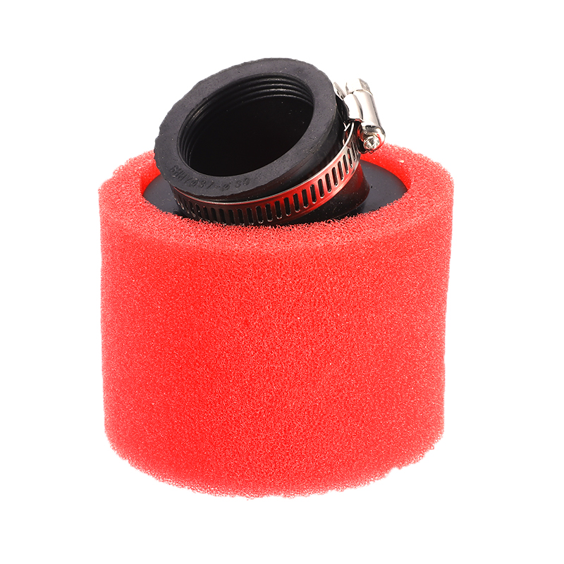 "3/"" TAPER ROUND RED SLANTED MESH GAUZE TURBO SHORT RAM COLD INTAKE AIR FILTER"