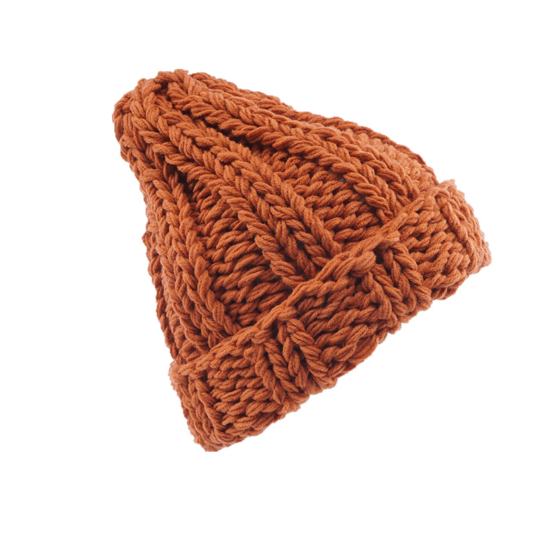 knitting Wool Hats 2018 Pompon Bobble Hats Women   Skullies     Beanies   Warm Hat Autumn Cap Winter Hat Female