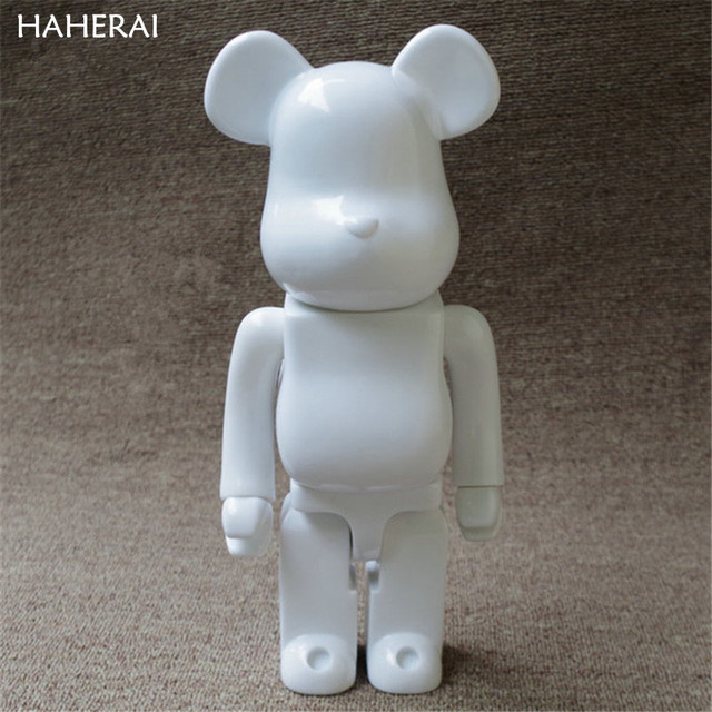 4cd5d244 11inch 28cm 400% Bearbrick White Color Be@rbrick DIY Paint Art Fashion Toy  PVC Action Figure Collection Model Toy Gifts JM15
