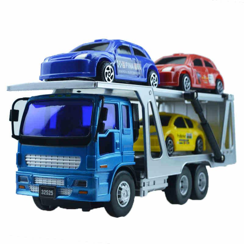 Small Car Transport Truck Series Double Trailer Children