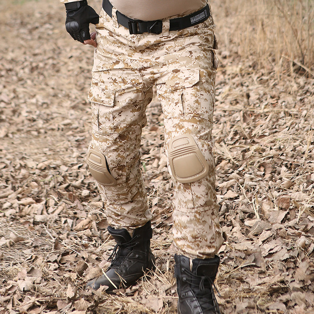 Camouflage Tactical Military Clothing Mens Army Cargo Pants Combat Trousers Multicam Militar Tactical Pants with Knee Pads