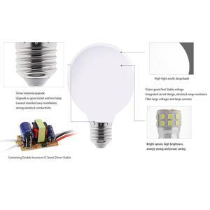 Image 5 - 밀키 LED 전구 E27 220V 110V Lampara G80 G95 G125 Ampoule Bombilla LED 램프 전구 차가운 흰색 따뜻한 화이트 펜 던 트 램프