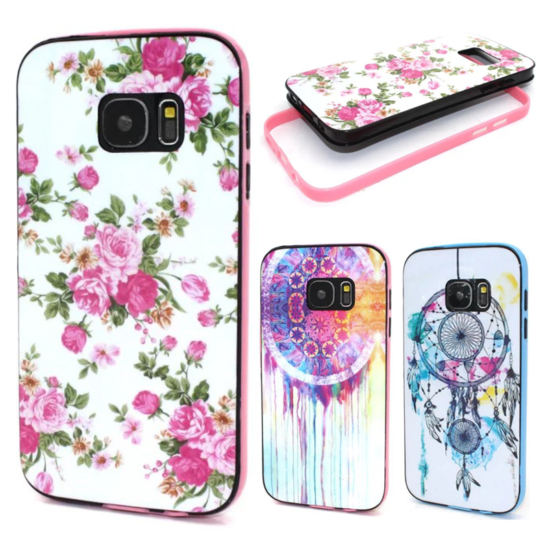 Flores lindas caso accesorios del teléfono para coque samsung galaxy s7 marco de