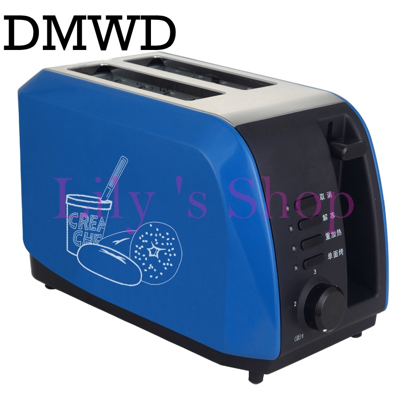 DMWD MINI Household Baking breakfast maker bread sandwich electrical toaster Cooker Breakfast Machine 2 slices pieces Europen US dmwd electric waffle maker muffin cake dorayaki breakfast baking machine household fried eggs sandwich toaster crepe grill eu us