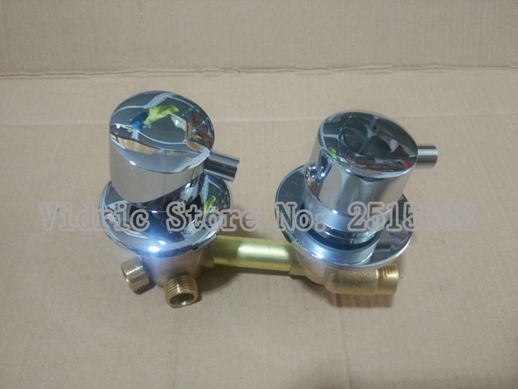 Customized 2/3/4/5 ways thermostatic faucet thread or intubate style valve, Bathroom faucet water separator shower room mixer 3 tap connect 3 4 5 gear screw thread thermostatic faucet valve shower room mixing valve cold and hot water switch separator