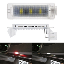 2pcs Flashing Warning Lamp LED Car Door Lights for BMW X1 X3 E91 E93 E30 X5 X6 M3 M5 M6 Auto Strobe Red Light Car-styling