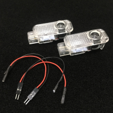 4pcs LED Door Light Decorative Lamp Car Projector For Audi A6 C6 A5 TT Sline Q5 A3 A1 A4 A7 A8 Q7 Q3 Emblem