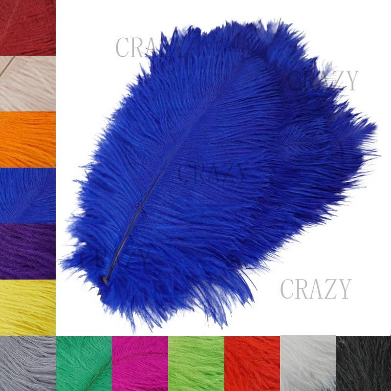 Beautiful Ostrich Feather 25 30 CM DIY Jewelry Craft Making Wedding Party Decor Accessories Wedding Decoration