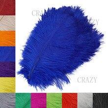 Красивое страусиное перо 25-30 см украшение ручной работы изготовление свадебной вечеринки декор Аксессуары свадебные украшения