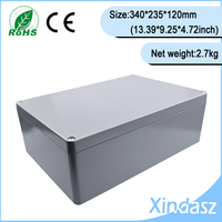 Metal electronic enclosure 340*235*120mm Metal Enclosure case for electronic board,diecast project box for craft