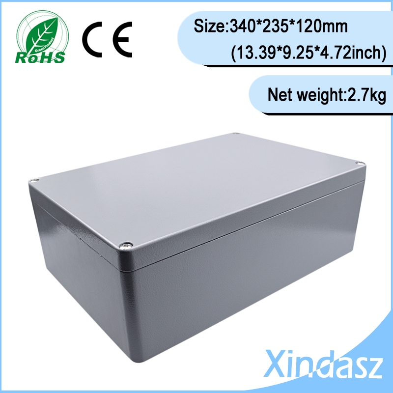 Metal electronic enclosure 340*235*120mm Metal Enclosure case for electronic board,diecast project box for craft 4pcs a lot diy plastic enclosure for electronic handheld led junction box abs housing control box waterproof case 238 134 50mm