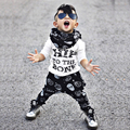 2pcs /Set Winter Autumn Unisex Toddler Kids Baby Boy Clothes Long Sleeve T-shirt Tops+Pants Letter Printed Casual Outfits Set