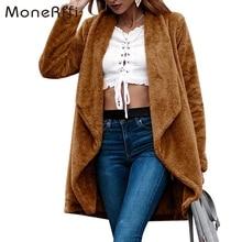 MoneRffi 2018 invierno cálida chaqueta de piel de las mujeres chaqueta abrigo  Casual oso de peluche abrigos de Mujer Chaquetas p. 9ad5d375f6c7