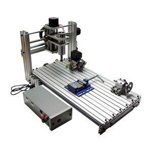 Image 4 - Diy מיני שולחן cnc 4 ציר 3060 pcb עץ מתכת כרסום קאטר מכונת עם לסת סגן מלחציים כרסום bits מכונות