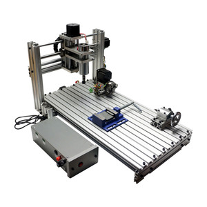 Image 4 - Diy mini table cnc 4 axis 3060 pcb wood metal milling cutter machine with jaw vice clamps and milling bits machinery