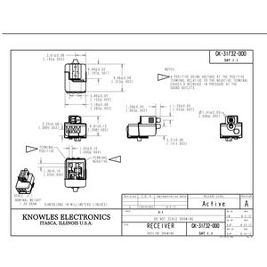 Image 4 - Knowles GK 31732 BA Driver IEM Balanced Armature Triple Driver Receiver Speaker for Custom Fit Earphone Low Frequency