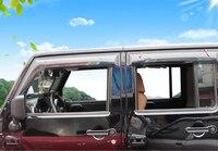 Window Visor Vent Shade Rain Sun Wind Guard For Jeep Wrangler 4 Door 2007 08 09
