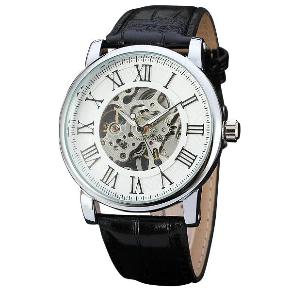 WINNER Brand Women Mechanical Watches Roman Numerals Ladies hand winding Wristwatches 2017 Fashion Skeleton Dial Gift