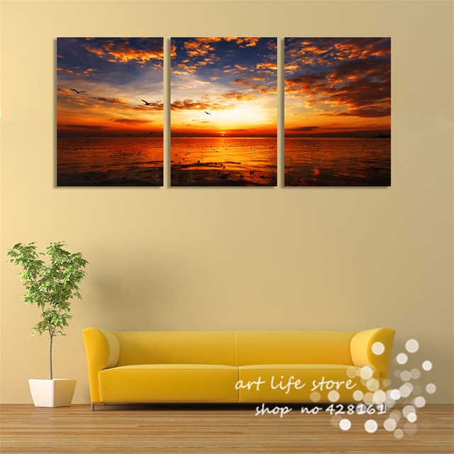3 pieces wall art picture Wall Painting Home decor Paint on Canvas ...