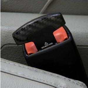 Image 3 - 1 個安全ベルトバックルリアルカーボン繊維トラックカーシートセーフティベルト警報キャンセラーストッパー