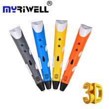 Myriwell 3d Handles Pen Best Gift for Kids Magic Pen 3D Drawing Pen for Doodling Art Craft Making Education PLA/ABS Filament nt5tu32m16dg be