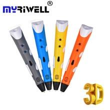 Myriwell 3d Handles Pen Best Gift for Kids Magic Pen 3D Drawing Pen for Doodling Art Craft Making Education PLA/ABS Filament 5 cm single joint slide fader potentiometer b5k b50k b100k