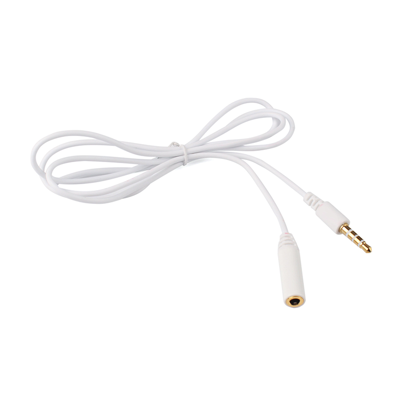 Wholesale 1m 3 5mm Male To Female 4 Pole Jack Stereo Audio Headphone
