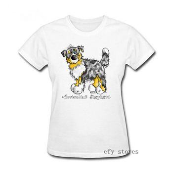 2019 Hot summer casual apparel australian shepherd dog women T-shirt Nice Gift For Aussie Dog Lovers women leisure T Shirt