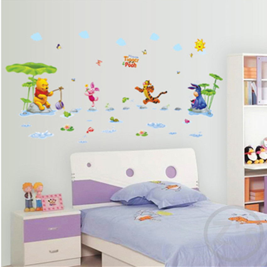 Zs Sticker Winnie The Pooh Wall Sticker Home Decor Cartoon Wall