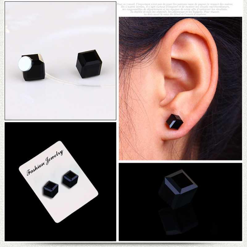 1 pares de perda de peso cubo de água magnética saúde ímã orelha parafuso prisioneiro para meninas femininas tong6