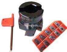 1pcs 4Flute BAP400R-50MM-22 face milling with 10pcs carbide inserts APMT1604PDER insertsCNC Milling