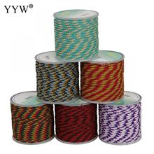 YYW 8 Color 10m/Spool 3mm Nylon Cord Thread Cord Plastic String Strap Diy Rope Bead Necklace European Bracelet Jewelry Making yyw 0 15mm 2 yarn jewelry diy making cord thread silk beading thread pearl string 900m spool nylon cord costume jewelry thread