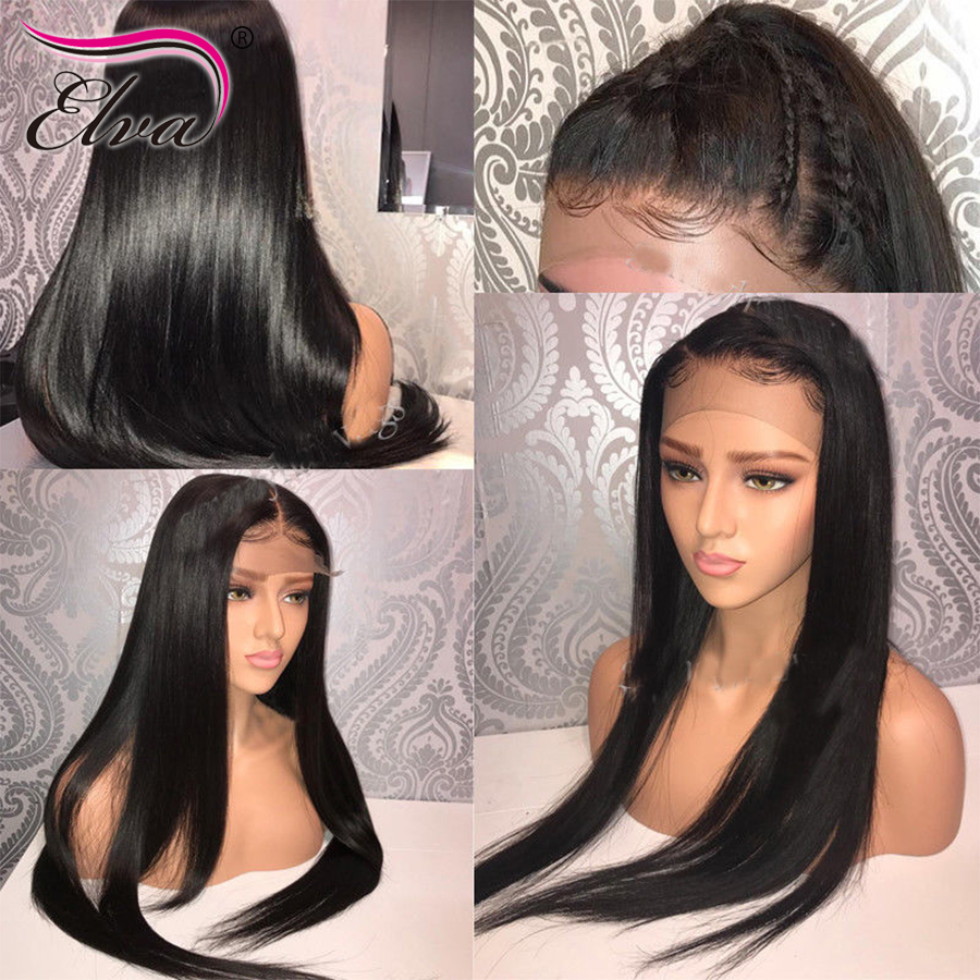 Image 5 - Elva Hair Lace Front Human Hair Wigs Glueless Lace Front Wigs For Black Women Pre Plucked Baby Hair Straight Lace Frontal Wig-in Human Hair Lace Wigs from Hair Extensions & Wigs
