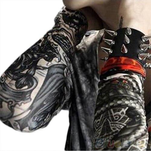 6 Pcs/lot Men Fashion Temporary Fake Slip On Tattoo Arm Sleeves Kit   Sleeves 00RT