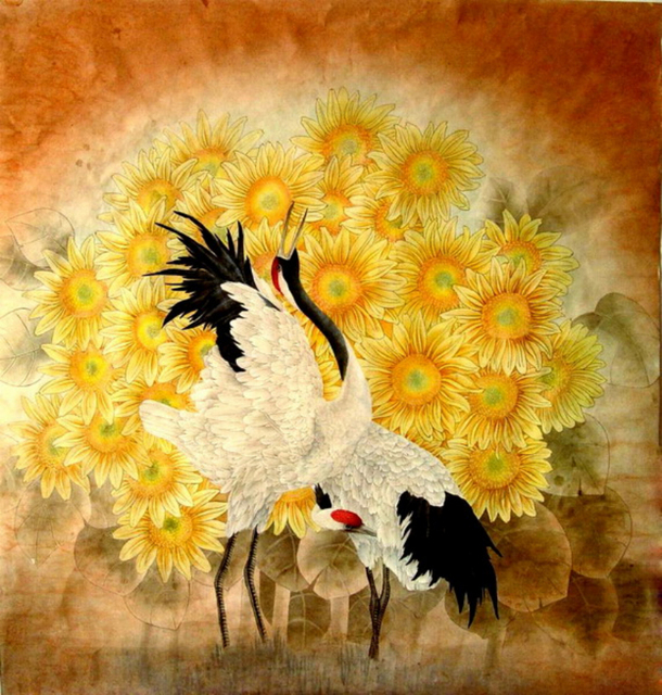 Chinese Watercolor Painting Flower and Bird Wall Art Picture HD ...