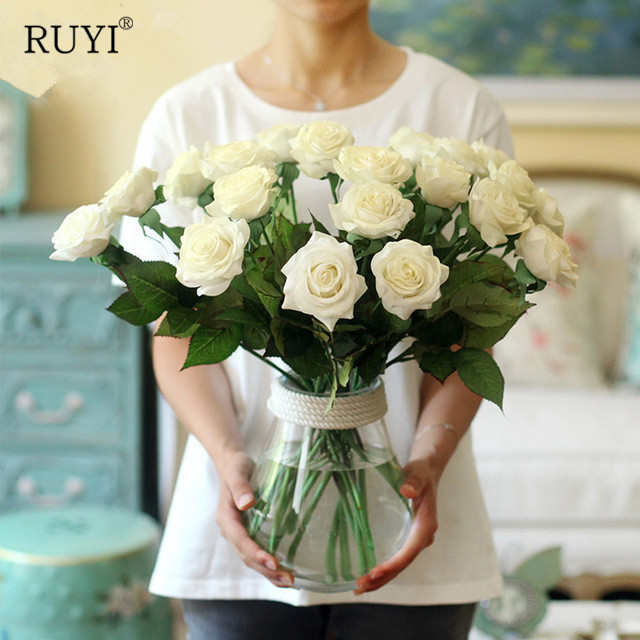 Real Touch Rose Flowers Artificial Silk Flowers Fake Peony Home