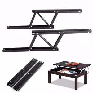 Image 2 - 1 Pair Lift Up Coffee Table Mechanism Table Furniture Hardware Fiftting Usage for Table Cabinet Desk 38*16.5cm Spring Hinges