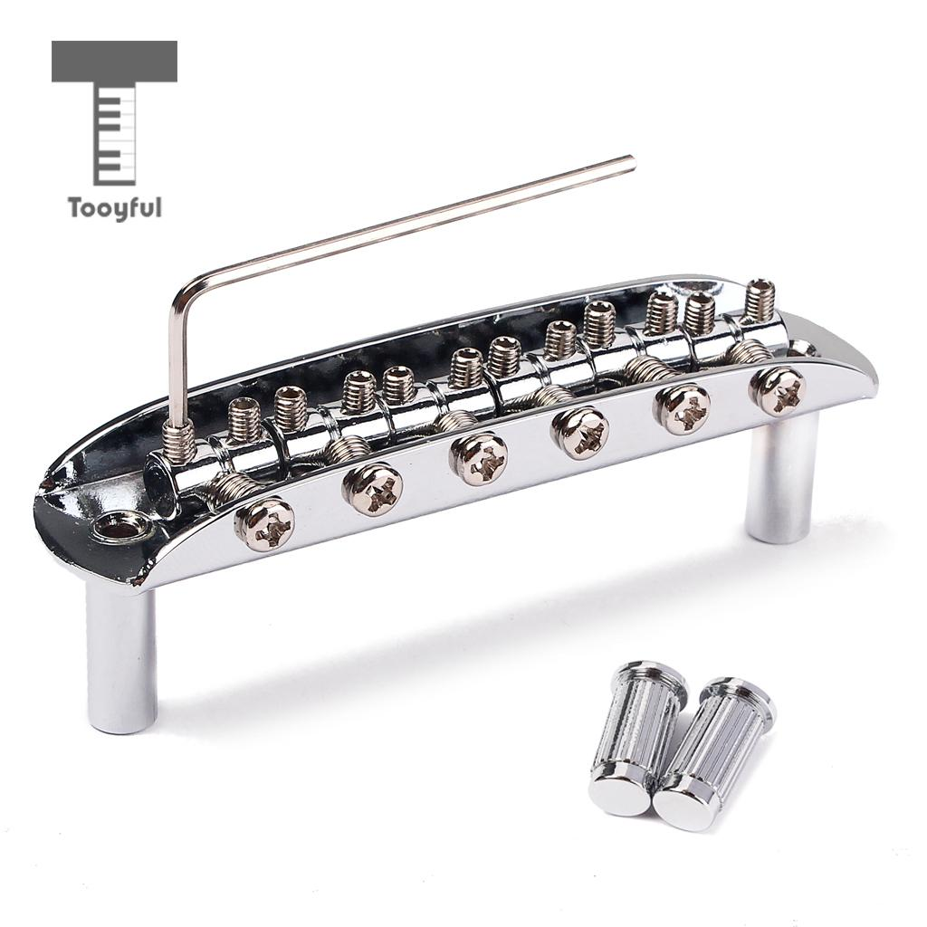 Tooyful Chrome Guitar Parts Saddle Bridge for Mustang Electric Guitar fit Jazzmaster Instrument Accessories цена