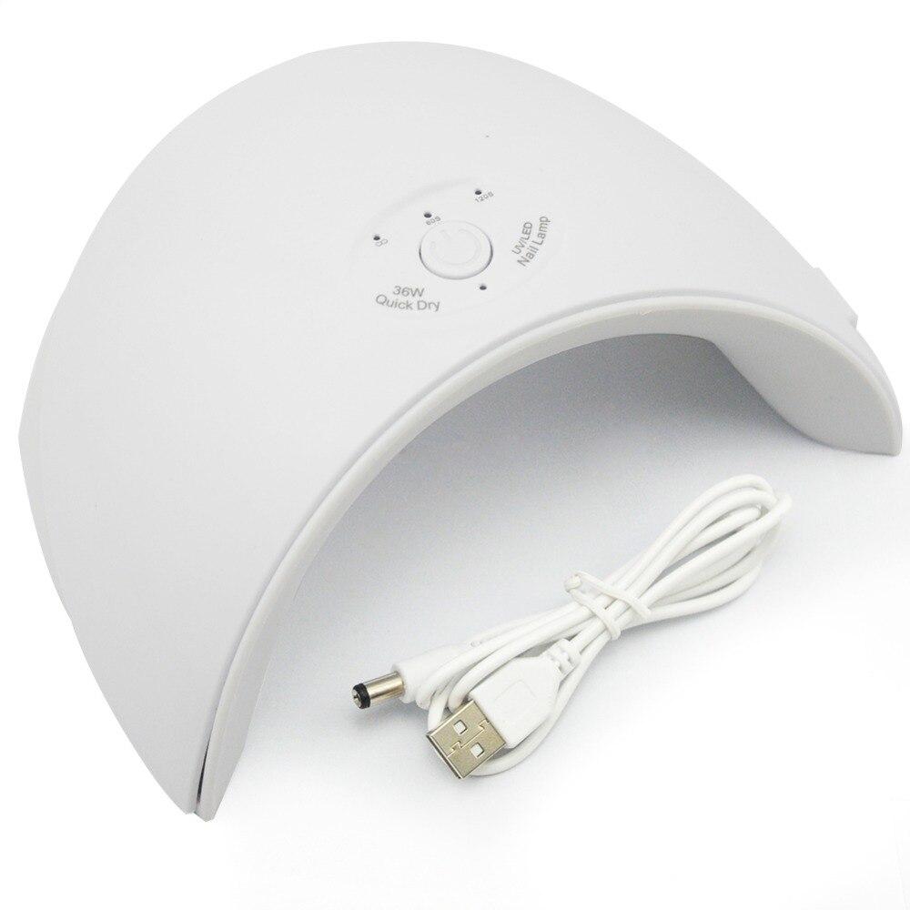 Neue 36 W UV Led Lampe Nagel Trockner Für Alle Arten Gel 12 Leds UV Lampe für Nagel Maschine Aushärtung 60 s/120 s Timer USB Stecker