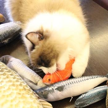 Pet Soft Plush 3D Fish Shape Cat Toy  2