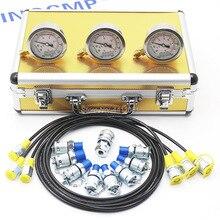 Экскаватор гидравлический манометр испытательный комплект, диагностический инструмент 1 год гарантии