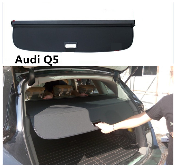 For Audi Q5 2010 2018 Rear Trunk Cargo Cover Security Shield Screen shade High Qualit Car