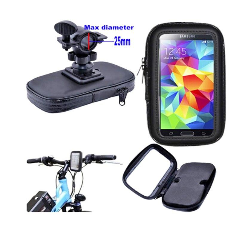 Bicicleta soporte para teléfono móvil a prueba de agua bolsa de caja de la panta